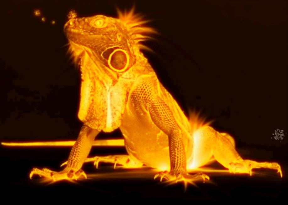 Как сделать огненный предмет в фотошопе