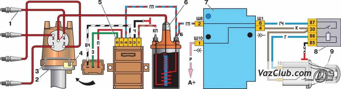 Схема подключать электронного зажигания на ваз 2106 41